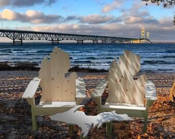 FREE SHIPPING! Michigan Adirondack Chair