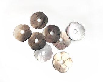 50mm Black Lip Shell Flower Pendant-Necklace Pendant-1pc