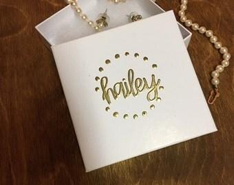 Personalized Gift Box   Personalized Jewelry Box   Bridesmaid Jewelry Box   Bridesmaid Proposal   Custom Gift Box   Bridesmaid Gift
