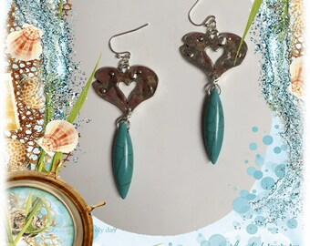Hammered Open Heart Earrings