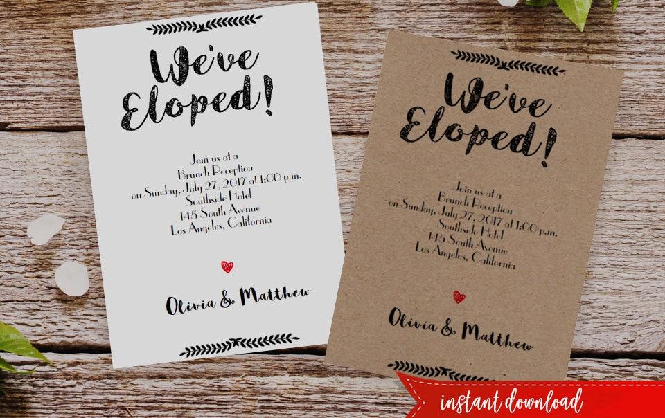 Elope invitation | Etsy