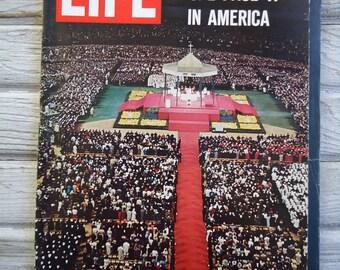 1965 Pope Paul VI Vintage Life Magazine - Pope Paul VI - Vintage 1965 - Retro decor - Vintage Life Magazine - Paper Ephemera - Vintage ads