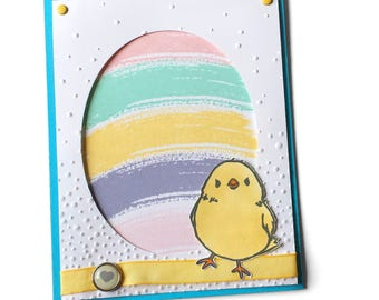 Easter Egg and Chick Greeting Card, Handmade