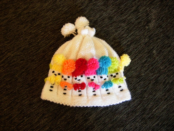 Knitting Pattern For Baby Snowman Hat : knit snowman hat knit baby hat Christmas hat knit kids hat