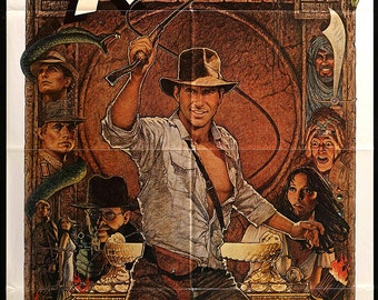 """Raiders of the Lost Ark (1981) R82 Movie Poster - 27"""" x 41"""""""