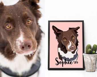 Custom Pet Portrait - Dog Portrait Custom -  Personalized  Dog Portrait - Cat Portrait - Pet Portraits - Pet Prints - Dog Printable - Decal