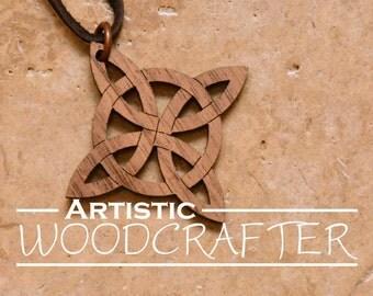 Wooden Celtic Necklace (Walnut)