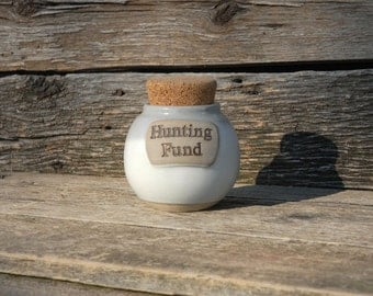 Hunting Fund Pottery Jar, Corked Jar