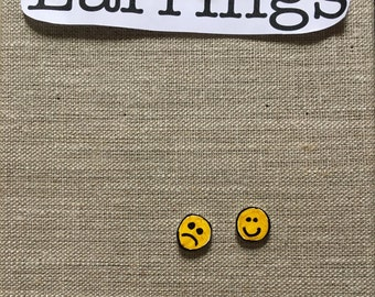 Happy + Sad Face Earrings