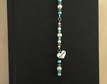 Bridesmaid Gift, Beaded Bookmark, Bookmark, Stretchy Bookmark, Bookmark Bracelet, Bridesmaid Stretchy Beaded Bookmark