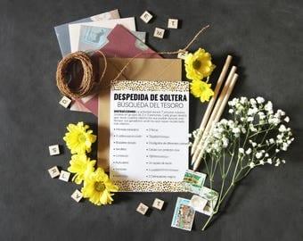 Treasure hunt bridal shower, bridal shower games, in spanish, wedding shower, despedida de soltera juegos, juegos imprimibles, fiesta