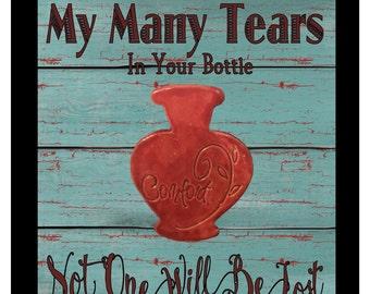 Tear Bottle Psalm 56:8 Shadow Box