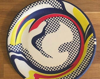Roy Lichtenstein Original 1969 Limited Edition Silkscreen Paper Plate
