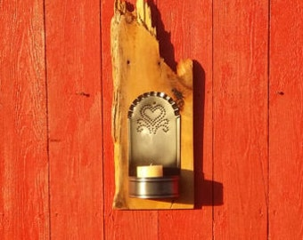 Barn Wood Candle Sconce