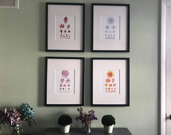 Four Seasonal Eye Chart 8x10 Prints