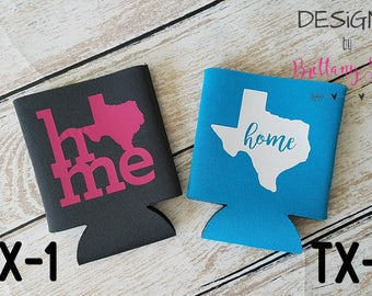 Texas Home Can Cooler | Two Style Options