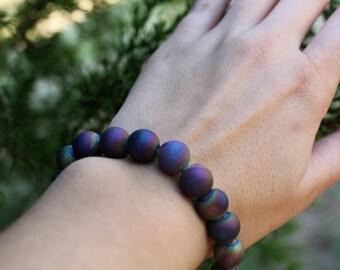 Amethyst Geode Stone Bracelet
