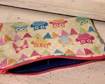 Adorable Owl zipper pouch