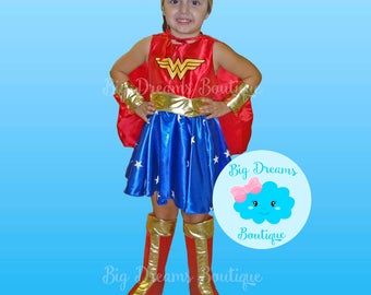 Girls Wonder Woman Costume, Wonder Woman Dress