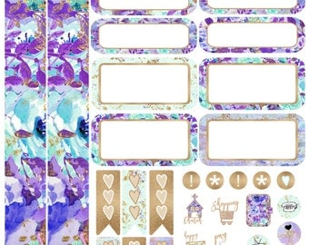 Beautiful Lavender Personal Planner Kit Planner Stickers