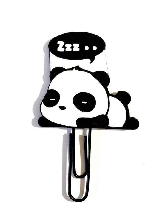 Panda Paper Clip | Planner Paper Clip | Planner Accessory | Panda Bookmark | Kawaii Bookmark | Kawaii Paper Clip | Kawaii Planner Clip