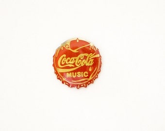 COCA-COLA MUSIC Vintage enamel pin Brooch Badge