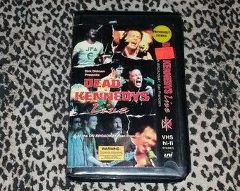 Dead Kennedyss Live [VHS] At the On Broadway in San Francisco, 1984 Jello Biafra Vintage Punk Tape 80s Punk Rock VHS Tape Rare Vintage DK