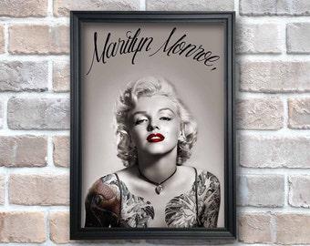 Marilyn Monroe.Digital Download,Poster JPG file & pdf INSTANT DOWNLOAD,