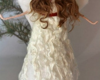 LARGE Needle Felted Angel Christmas Tree Topper-Ready to Ship!!