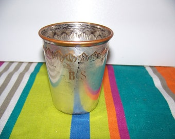 Goblet/Cup silver metal engraved without punch - Silver tumbler without engraving
