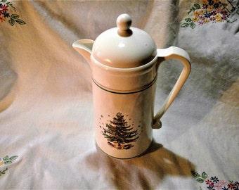 Vintage Nippon Spode Christmas Thermal Carafe