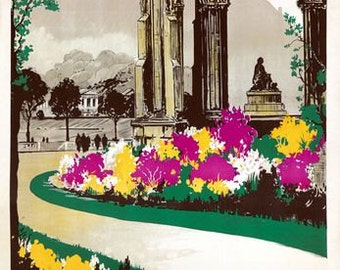 Vintage LNER Edinburgh Railway Poster A3 Print