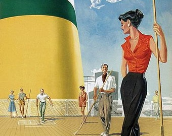 Vintage French Netherlands Holland Tourism Poster A3 Print