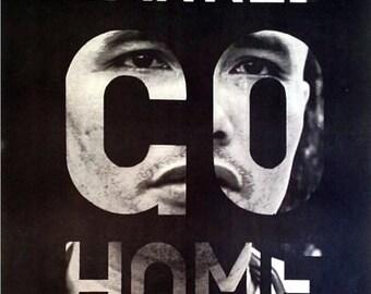 Vintage Yankee Go Home Anti Vietnam War Poster A3 Print
