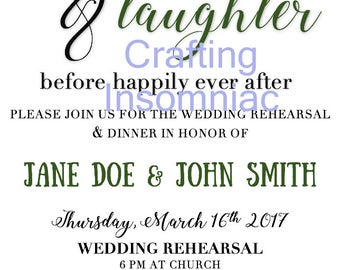 Love & Laughter Rehearsal Dinner Invitation
