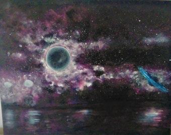 Moon Refelction - Canvas Print