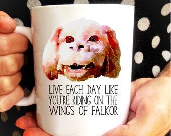 FALKOR Mug / Neverending Story mug gift / Motivational Mug / 80s Movie / Atreyu