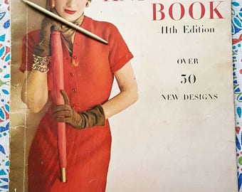 1948 Vogue Knitting Book 11th Edition Knitting Pattern Magazine Retro Style Bathing Suit and More!