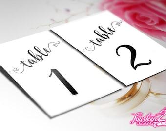 Wedding Table Numbers | DIY Wedding | DIY Table Numbers | 5x7 Table Numbers | Table Number Digital Download PDF |  Wedding Decor