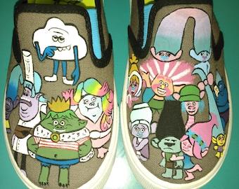 Trolls Custom Hand Painted Shoes