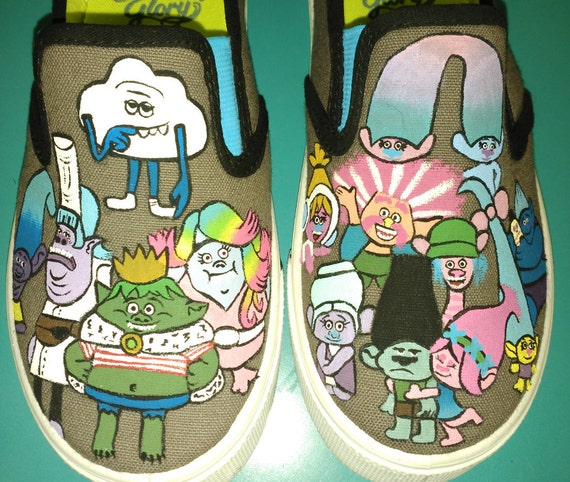Hand Painted Trolls Unisex Costume Shoes