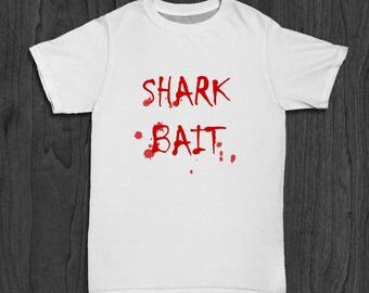 Shark Attack T-shirt for Men - Bloody Shirt - Shark Bite T-shirt for Him - Shark Jaws Tee - Fishing Shirt - Beach Coast Shirt - CA Tee