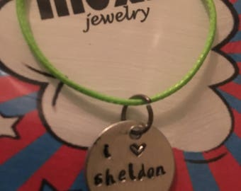 I love Sheldon necklace Big Bang Theory