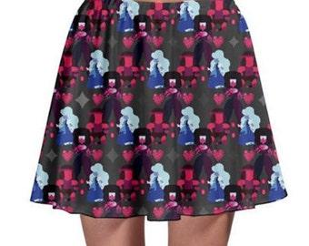 Garnet Skirt - Skater Skirt Steven Universe Skirt Cosplay Skirt Comicon Skirt Plus Size Skirt Fusion Skirt Ruby Sapphire Skirt