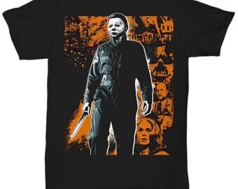 HALLOWEEN MICHAEL MYERS John Carpenter Classic Horror Movie shirt Tee T-shirt  S - 5XL  Black 1