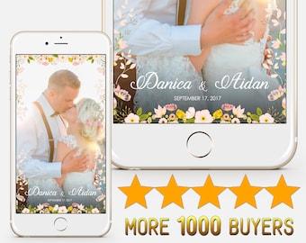 Snapchat Geofilter Custom Wedding Snapchat filter Personalied wedding geofilter Bridal shower geofilter Wedding flowers geofilter S96
