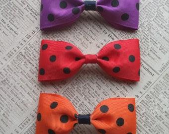 Polka Dots Hair Bow, Big Hair Bow, Girls Hair Bow, Stocking Stuffers