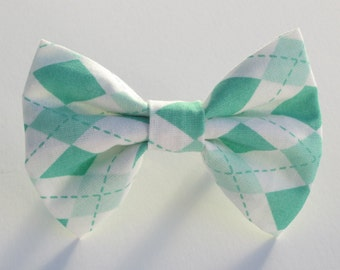 Pistachio Argyle Bow Tie- All Sizes