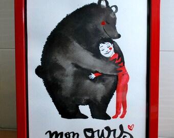My bear, original painting