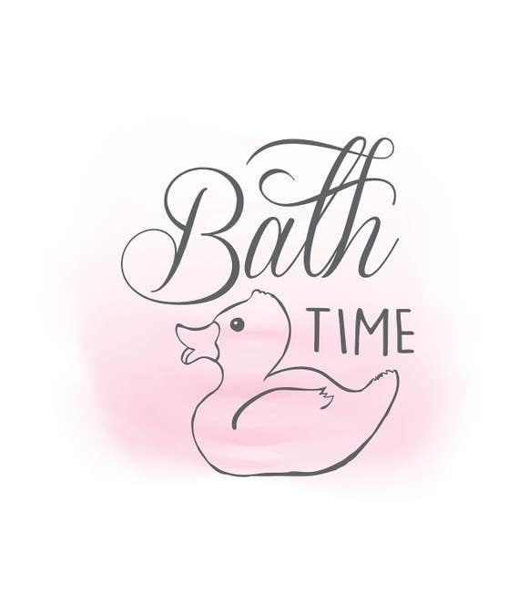 Bathtime duck svg clipart bathroom quote word art for Bathroom quotes svg